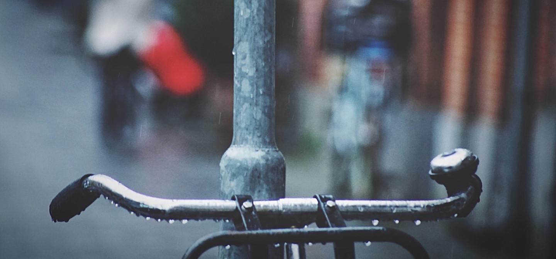 Fiets in de regen