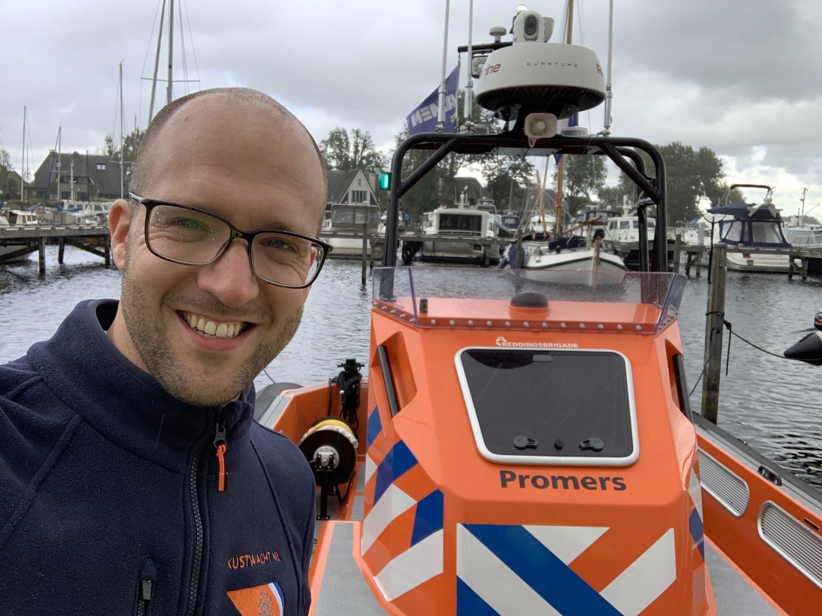 Reddingbootselfie Promers