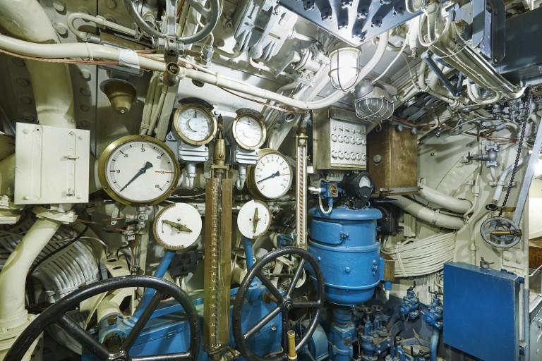 Machinekamer onderzeeboot WOII