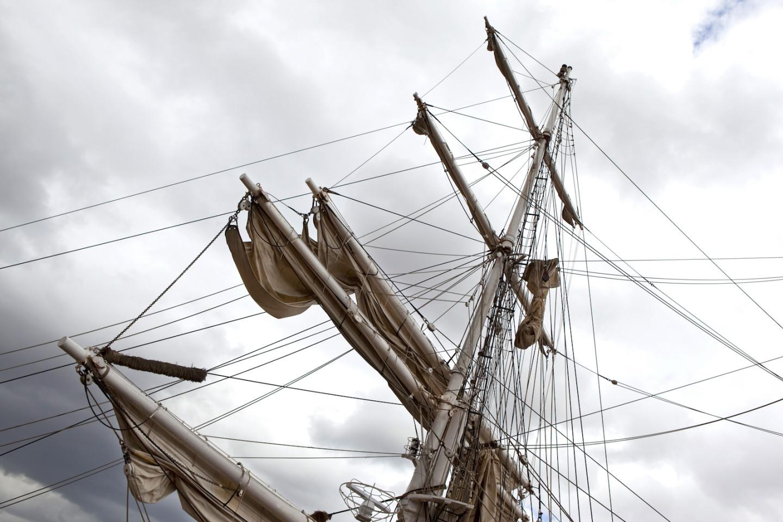 Mast van een zeilschip